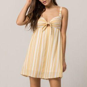Socialite Knot Front Stripe Dress